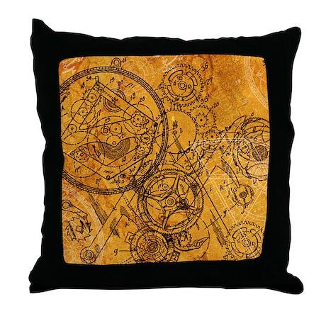 clockwork-collage_ff Throw Pillow