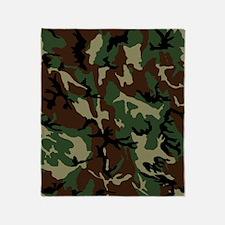 camo-green_ff Throw Blanket