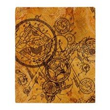 clockwork-collage_ff Throw Blanket