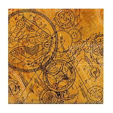 clockwork-collage_ff Tile Coaster
