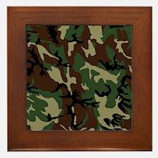 camo-green_ff Framed Tile