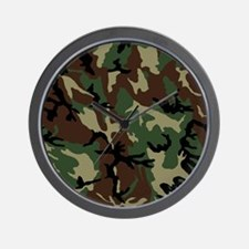 camo-green_ff Wall Clock