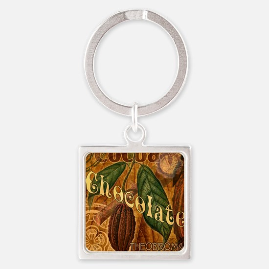 chocolate-collage_ff Square Keychain