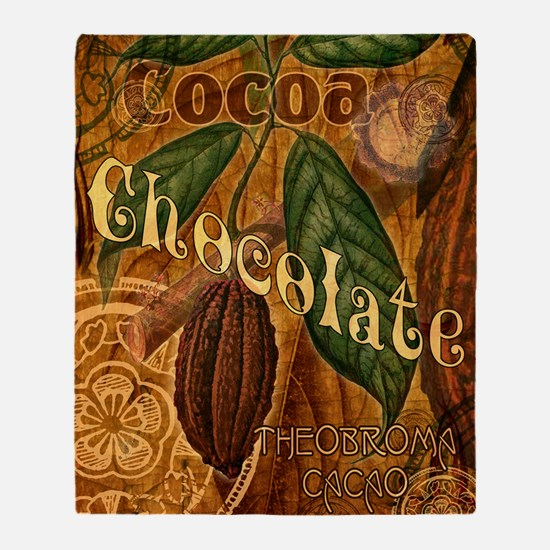 chocolate-collage_ff Throw Blanket