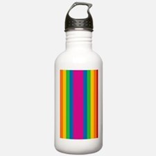 rainbow-stripe_ff Water Bottle
