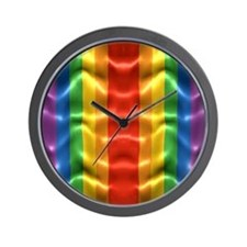 rainbow-flag-ripple_ff Wall Clock