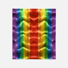 rainbow-flag-ripple_ff Throw Blanket