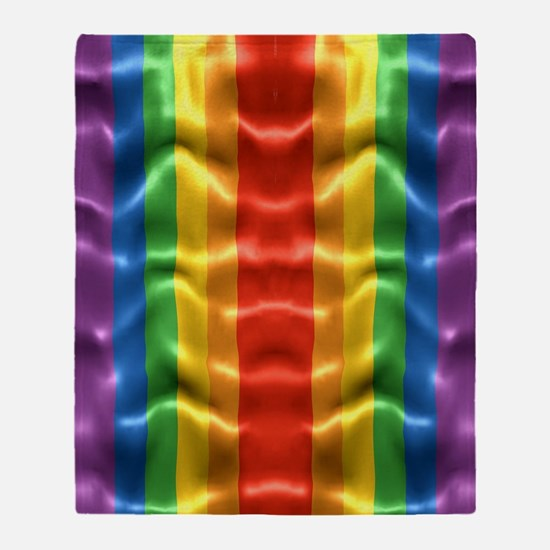 rainbow-flag-ripple_ff Throw Blanket