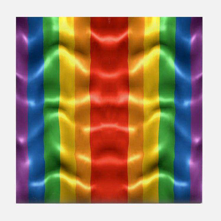 rainbow-flag-ripple_ff Tile Coaster