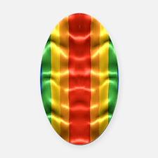 rainbow-flag-ripple_ff Oval Car Magnet