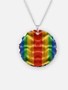 rainbow-flag-ripple_ff Necklace