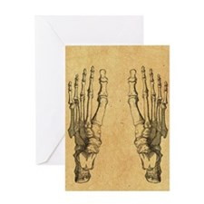 foot-bones-antique_ff Greeting Card