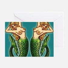retro-tattoo-mermaid_ff Greeting Card