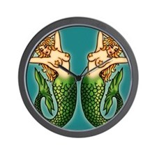 retro-tattoo-mermaid_ff Wall Clock
