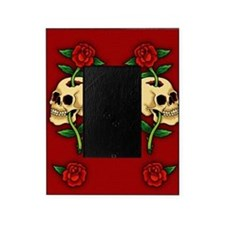 retro-tattoo-skull-rose-red_ff Picture Frame