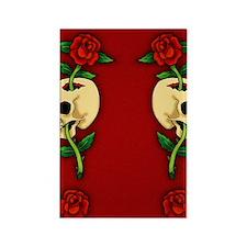 retro-tattoo-skull-rose-red_ff Rectangle Magnet