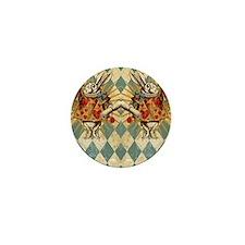 White Rabbit Vintage Mini Button