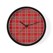 plaid-tartan_ff Wall Clock