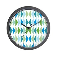 triangle-geese-blue_ff Wall Clock