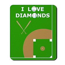 Baseball iPad Case, I Love Diamonds Mousepad