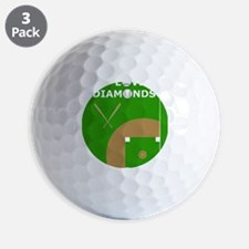 Baseball iPad Case, I Love Diamonds Golf Ball