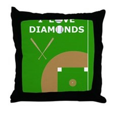 Baseball iPad Case, I Love Diamonds Throw Pillow