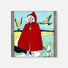 """red riding hood Square Sticker 3"""" x 3"""""""