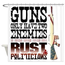 GUNS Shower Curtain
