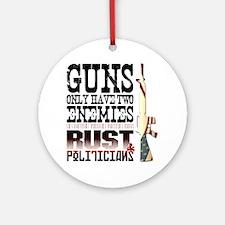 GUNS Round Ornament