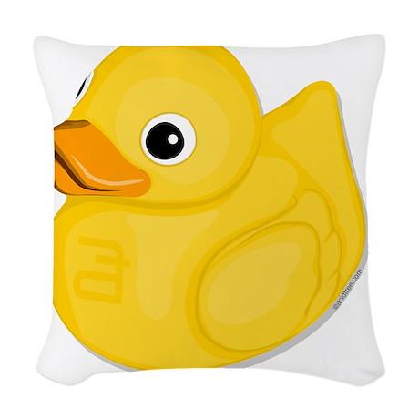 rubberduck-logo Woven Throw Pillow