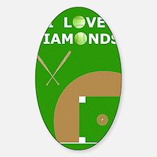 Softball iPad 2 Case, I Love Diamon Decal