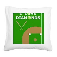 Softball iPad 2 Case, I Love  Square Canvas Pillow