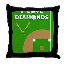 Baseball iPad 2 Case, I Love Diamonds Throw Pillow