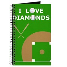 Baseball iPad 2 Case, I Love Diamonds Journal
