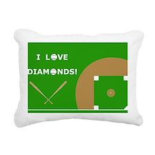 Baseball Laptop Skin, I  Rectangular Canvas Pillow