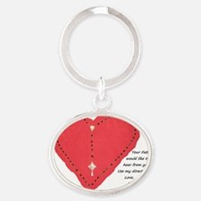 Moms Direct Line Oval Keychain