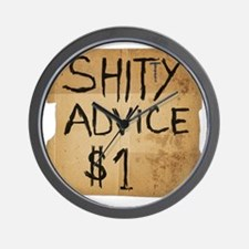 shitty advice Wall Clock