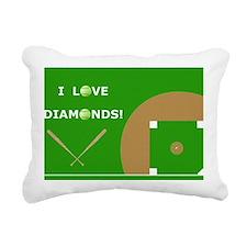 Softball Laptop Skin, I  Rectangular Canvas Pillow