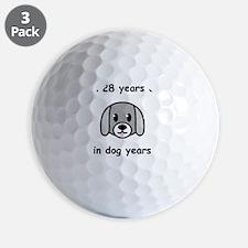 28 dog years 2 Golf Ball