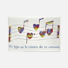 Mi hijo es la música de mi corazó Rectangle Magnet