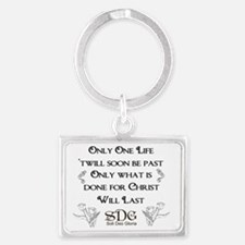 Only One Life Landscape Keychain