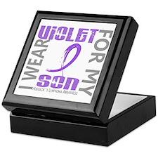 D I Wear Violet Son 46 Hodgkins Lymph Keepsake Box