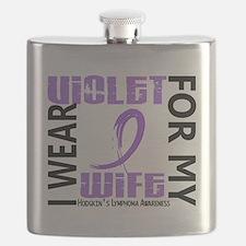 D I Wear Violet Wife 46 Hodgkins Lymphoma Flask