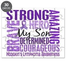 D Tribute Square Son Hodgkins Lymphoma Puzzle