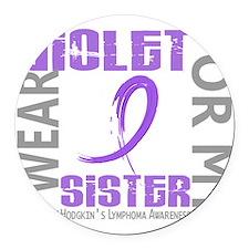D I Wear Violet Sister 46 Hodgkin Round Car Magnet