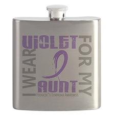 D I Wear Violet Aunt 46 Hodgkins Lymphoma Flask