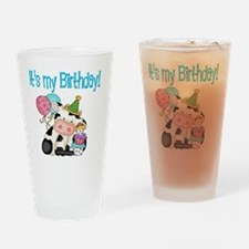birthday cow Drinking Glass