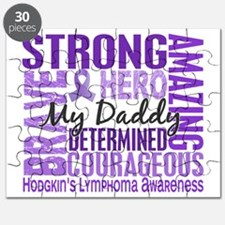 D Tribute Square Daddy Hodgkins Lymphoma Puzzle