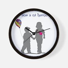 Yo amo a mi hermanito con autismo Wall Clock