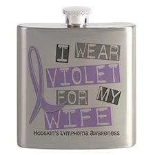 D I Wear Violet Wife 37 Hodgkins Lymphoma Flask